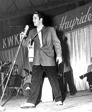 En el Louisiana Hayride, 1955.